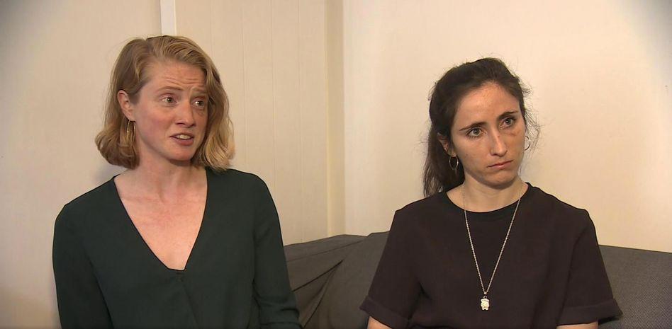 Melania Geymonat (r.) und ihre Freundin Chris