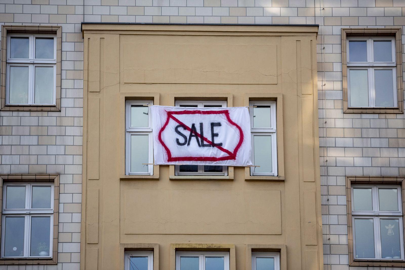 Proteste in Berlin gegen Deutsche Wohnen