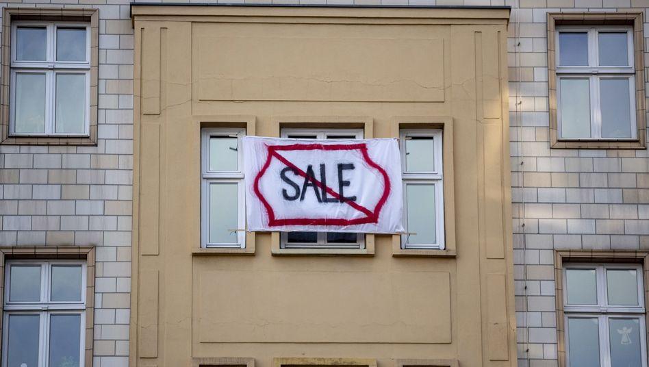 Proteste in Berlin gegen den Verkauf von Mietwohnungen