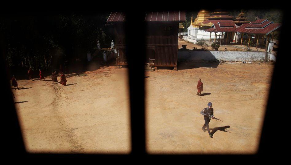 Antidrogeneinsatz der Polizei im Shan-Staat in Myanmar (Archivbild)