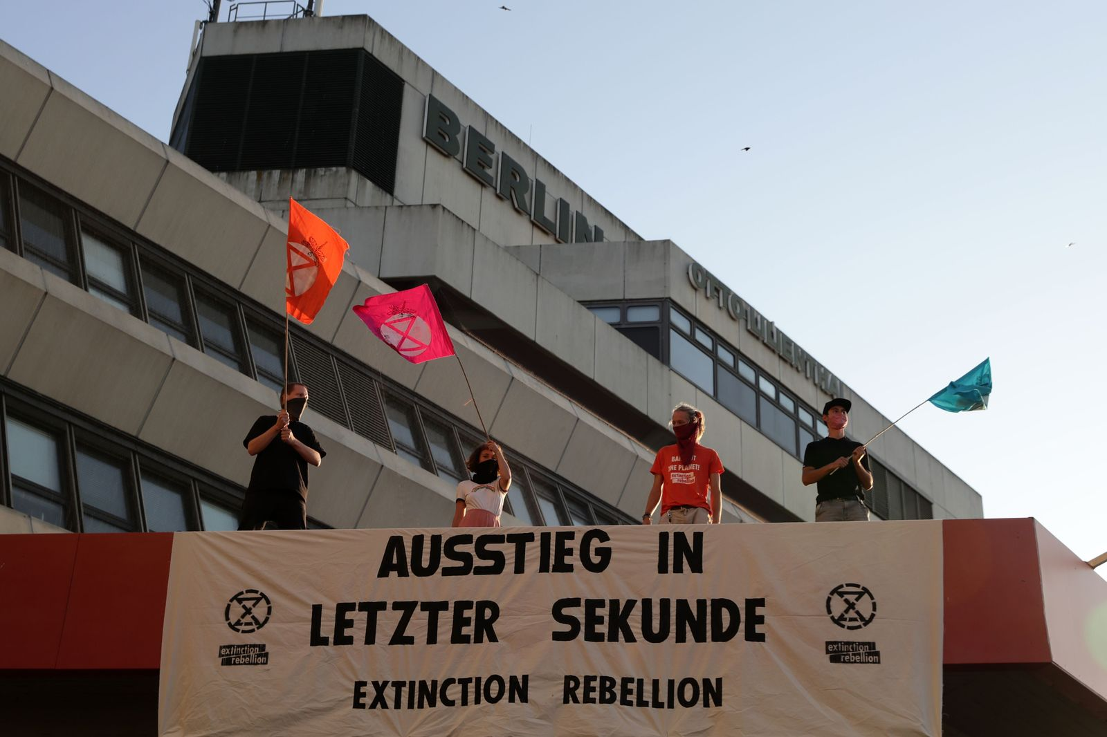 Extinction Rebellion act in Berlin, Germany - 17 Aug 2020
