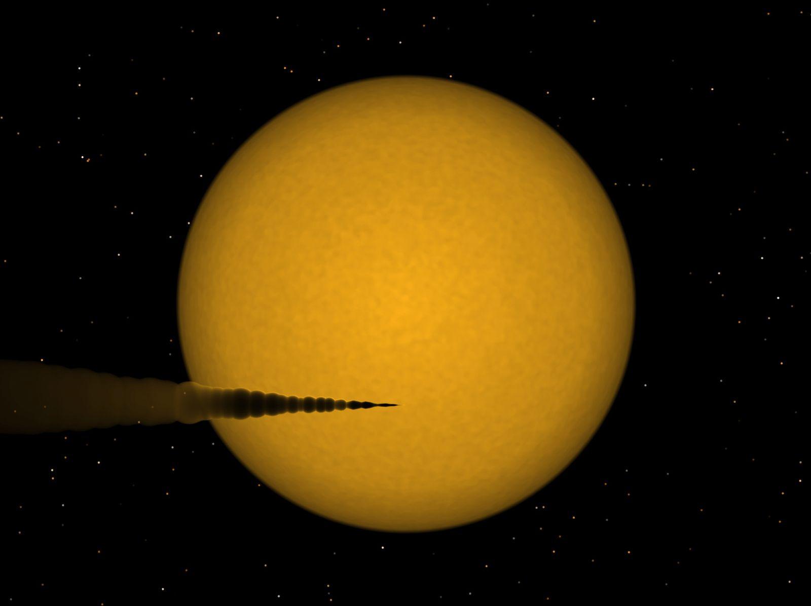 EINMALIGE VERWENDUNG Zerfallender Exoplanet