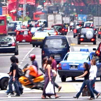 Singapur: Hektik, Hetzen, Spitzenplatz - nirgendwo sonst stoppten die Forscher schnellere Fußgänger