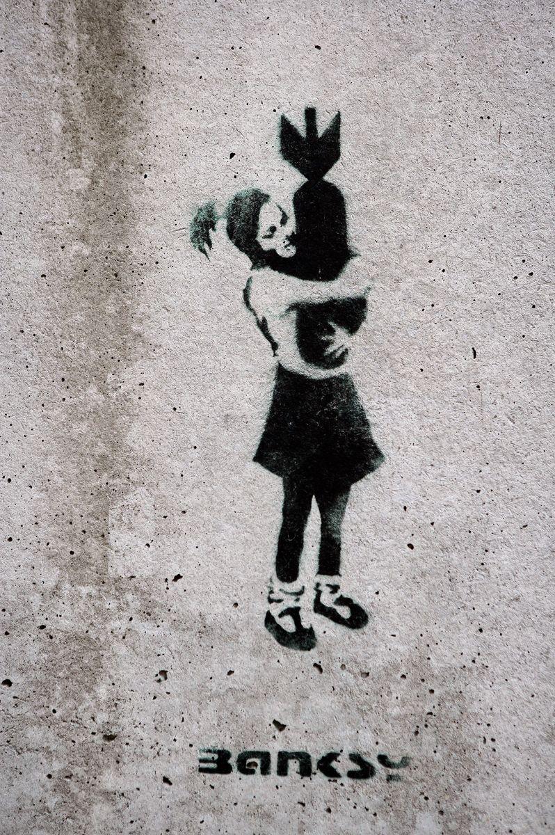 EINMALIGE VERWENDUNG Banksy/ Hamburg
