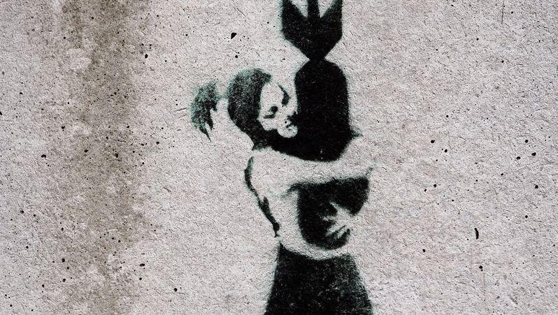 Bansky-Kunstwerk