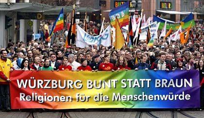"""Würzburg gegen Rechts: """"Bunt statt braun"""""""