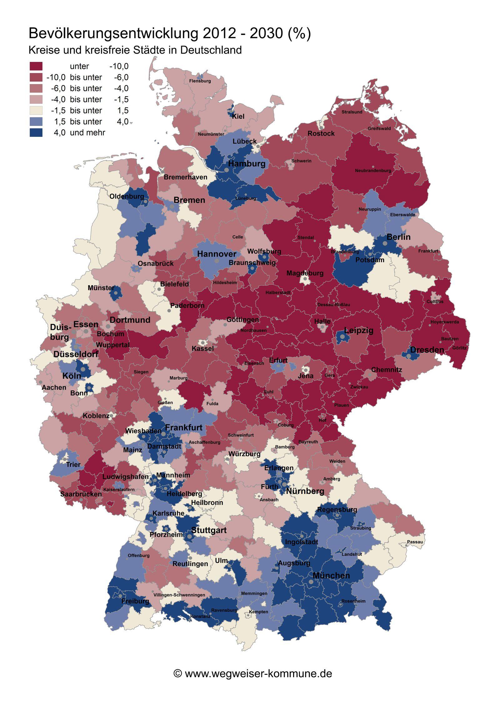 EINMALIGE VERWENDUNG GRAFIK Bevölkerungsentwicklung Deutschland