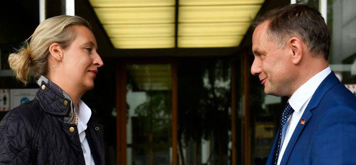 AfD-Spitzenkandidatin Weidel, Spitzenkandidat Chrupalla.