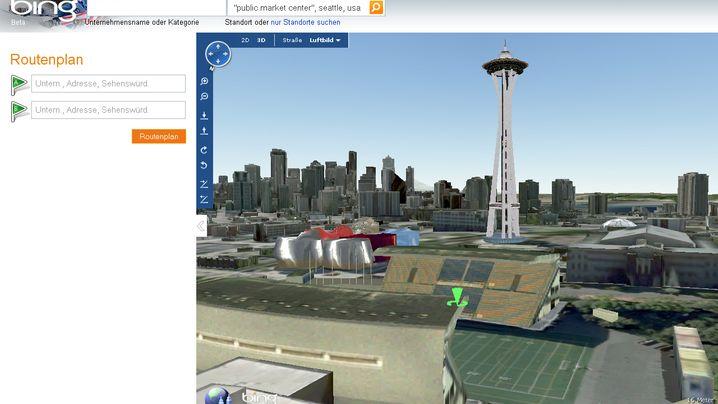 Bing Maps: Aus 2D mach 3D