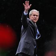 US-Präsident George W. Bush: Nicht einmal Stifte und Radiergummi waren ihm im Weißen Haus geblieben