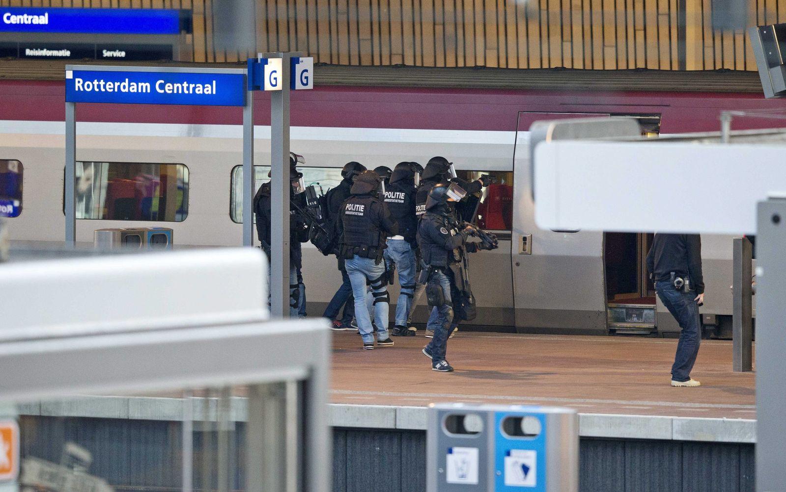 Thalys platforms evacuated at Rotterdam Central Station