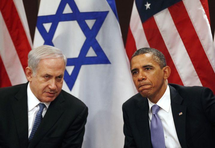September 2011: Netanyahu und Obama im Gebäude der Vereinten Nationen in New York