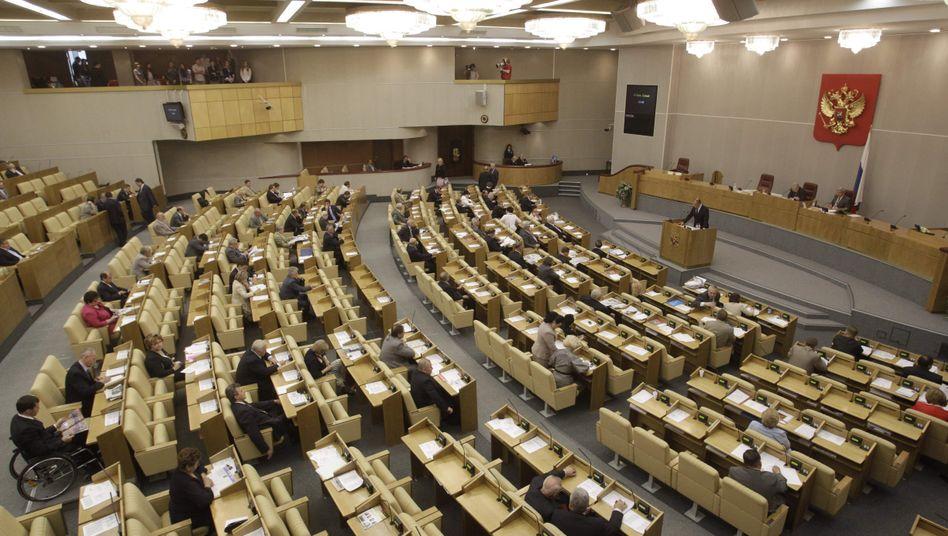 Staatsduma in Moskau (Archivbild): Neues Gesetz gegen Hochverrat