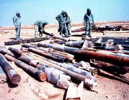 Uno-Inspektoren mit irakischen C-Waffen: Furcht vor den Schurkenstaaten