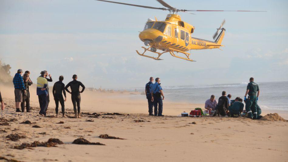 Rettungsaktion für verletzten Surfer