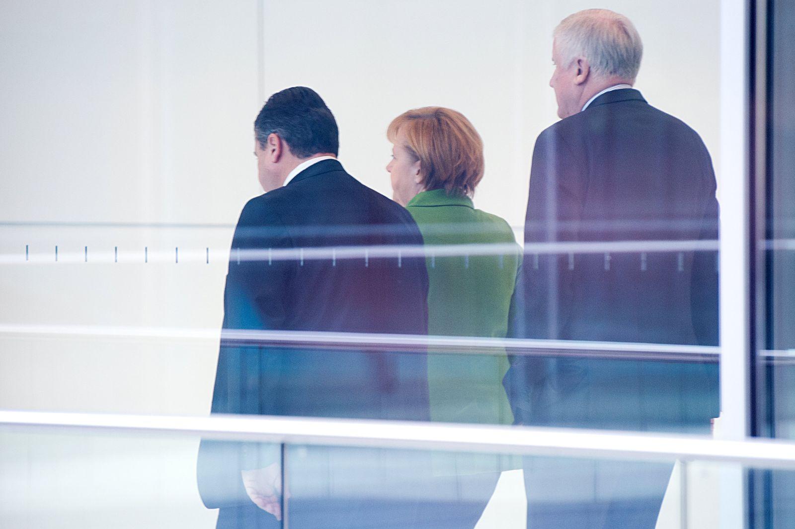 Merkel, Gabriel, Seehofer