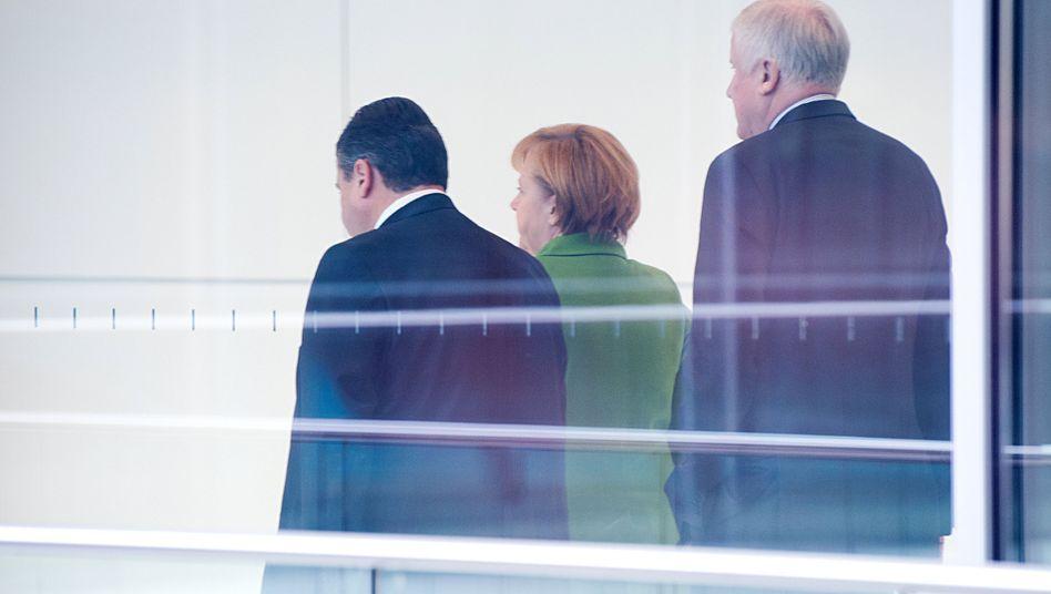 Gabriel, Merkel, Seehofer (Archivbild)
