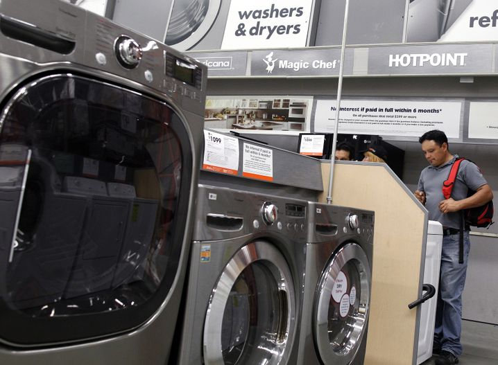 Die Zölle betreffen Güter, die man nicht jeden Tag kauft - zum Beispiel Waschmaschinen
