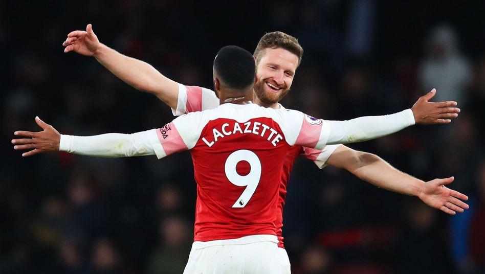 Shkodran Mustafi und Alexandre Lacazette: Bei Arsenal läuft vieles synchron derzeit