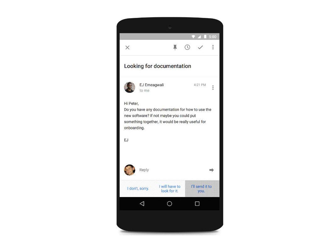 NUR ALS ZITAT Screenshot Google Inbox Autoreply