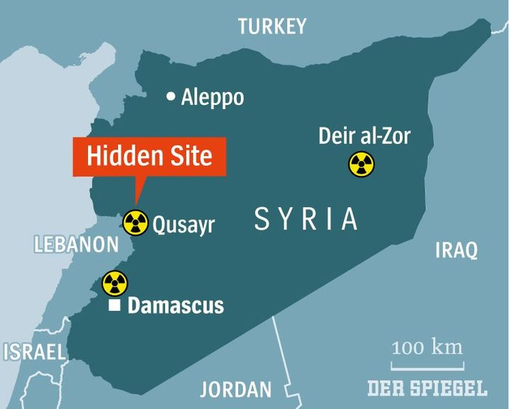 Map: The site of a possible new nuclear facility in Syria.
