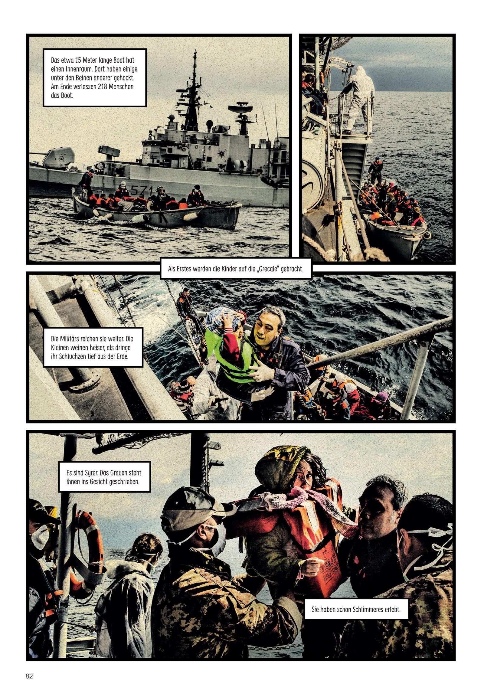 EINMALIGE VERWENDUNG Comic/ Carlos Spottorno & Guillermo Abril: Der Riss