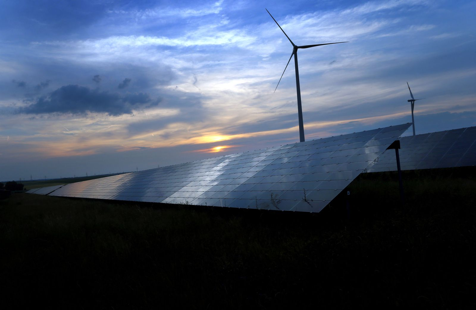 Windrad Solarzellen