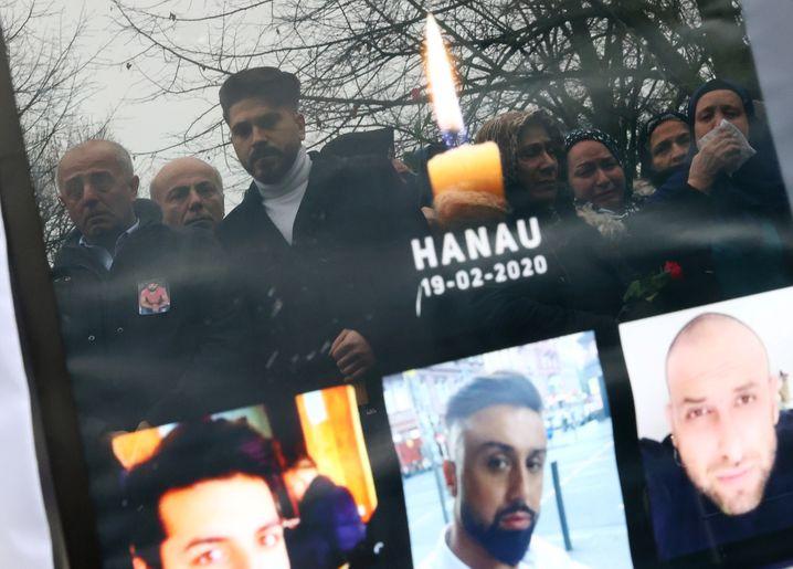 Gedenken an die Opfer von Hanau, ermordet beim Anschlag vom 19. Februar