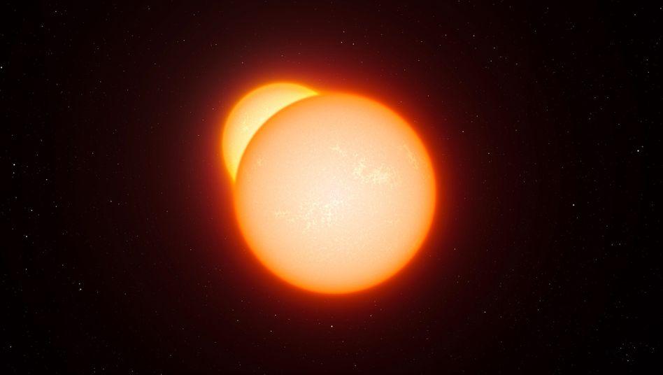Doppelsternsystem (grafische Darstellung): Hilfe bei Bestimmung kosmischer Entfernungen