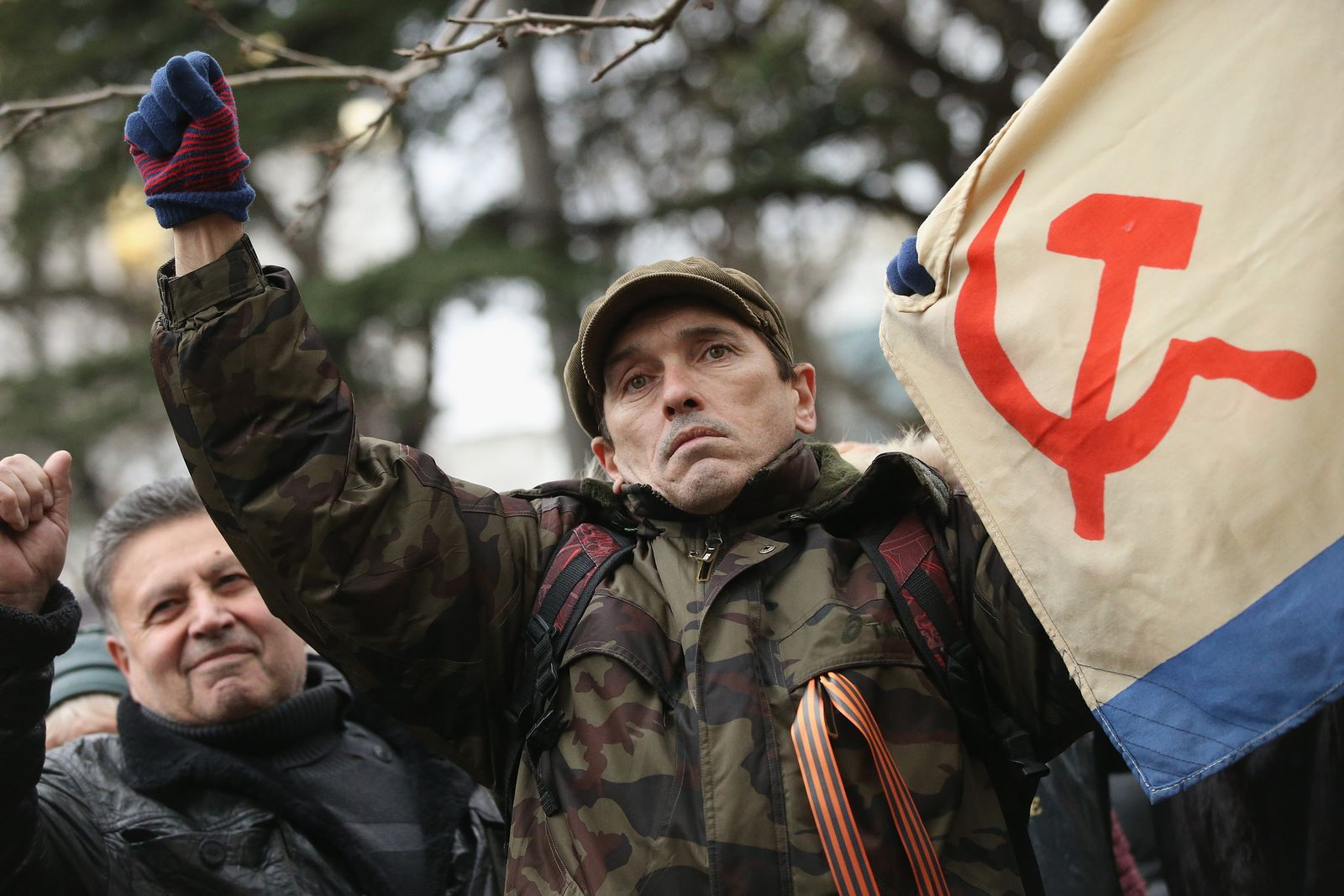 Krim / Simferopol / Prorussland-Protest