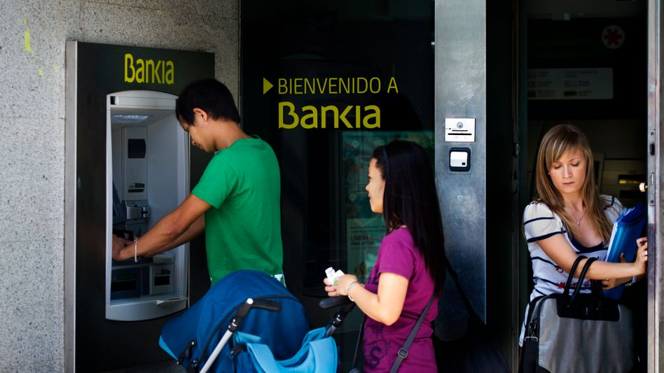 Bankia's troubles appear to have worsened a capital flight from Spain in May.