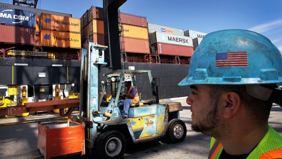 Arbeiter in Miami: Die Exporte legten im Sommer kräftig zu