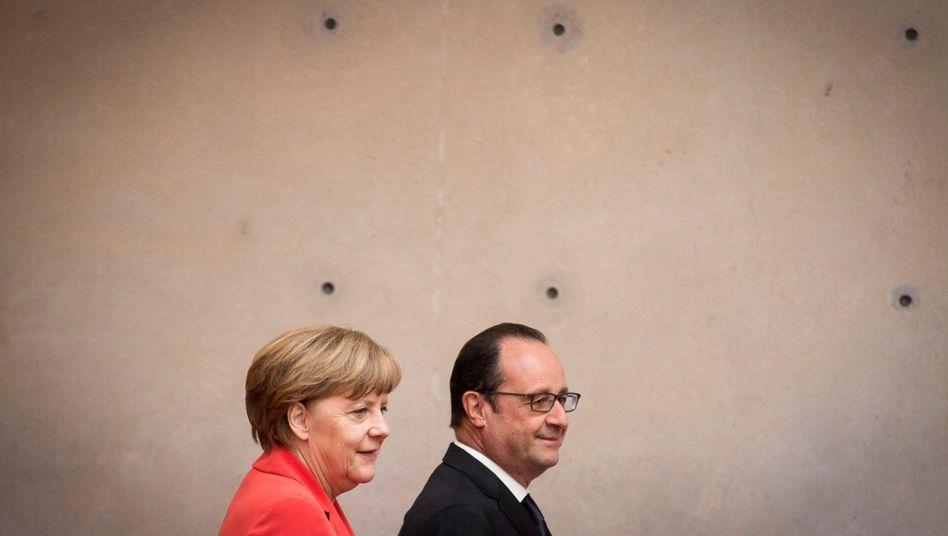 """Merkel und Hollande beim Klimadialog in Berlin (19. Mai 2015): """"Alles tun, damit wir die Pariser Konferenz zu einem Erfolg machen"""""""