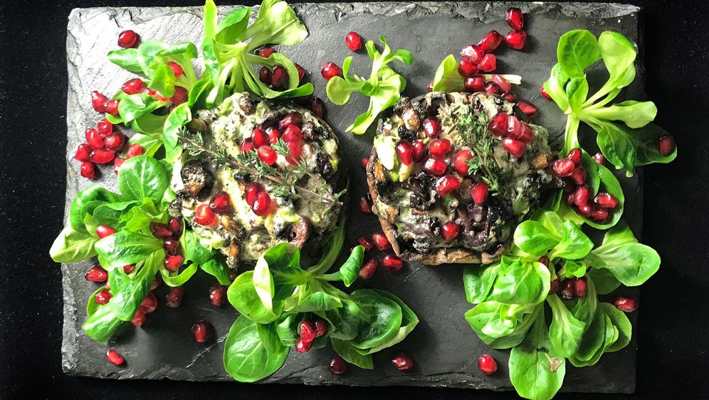 Fotostrecke: Rezept für Portobellopilze mit Blauschimmelkäse