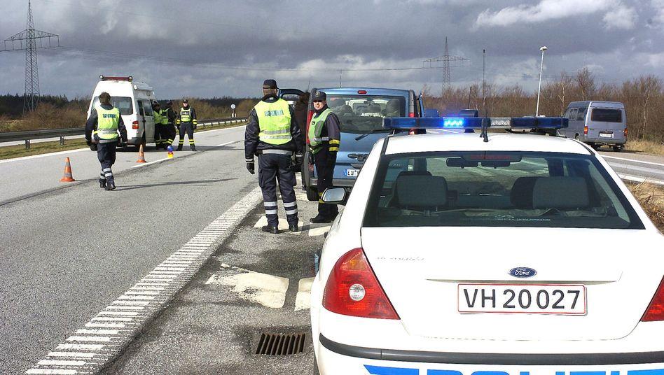Dänische Polizisten an deutscher Grenze: Keine Schlagbäume, aber wieder Kontrollen