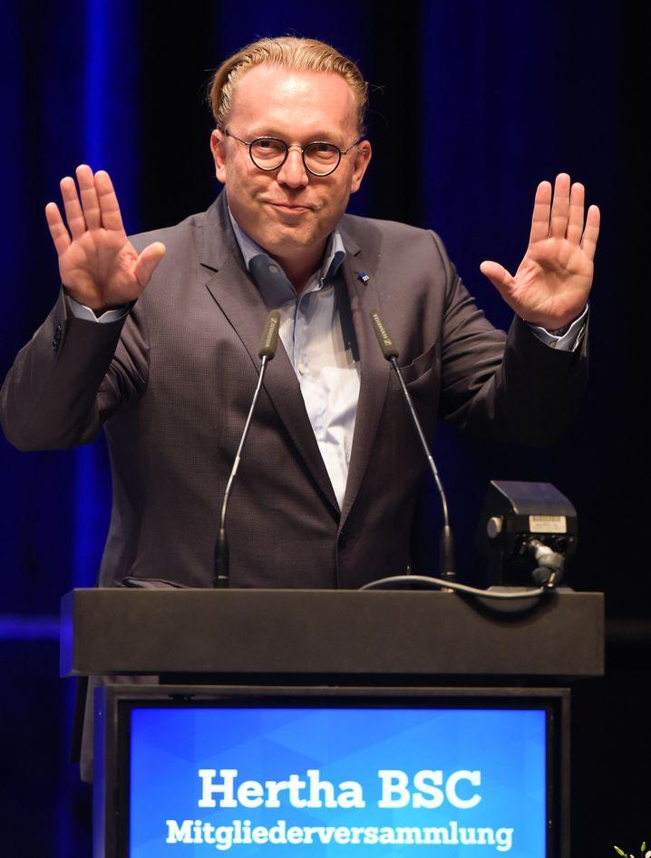Hertha-Vizepräsident Manske
