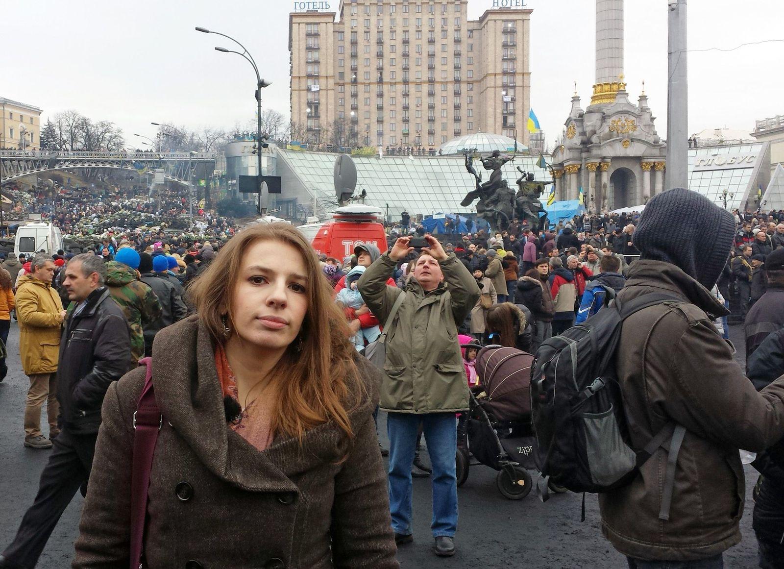 EINMALIGE VERWENDUNG Marina Weisband/ Ukraine/ Maidan