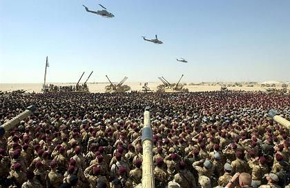 British troops in Kuwait 2003: Coordinating the battle for global resources