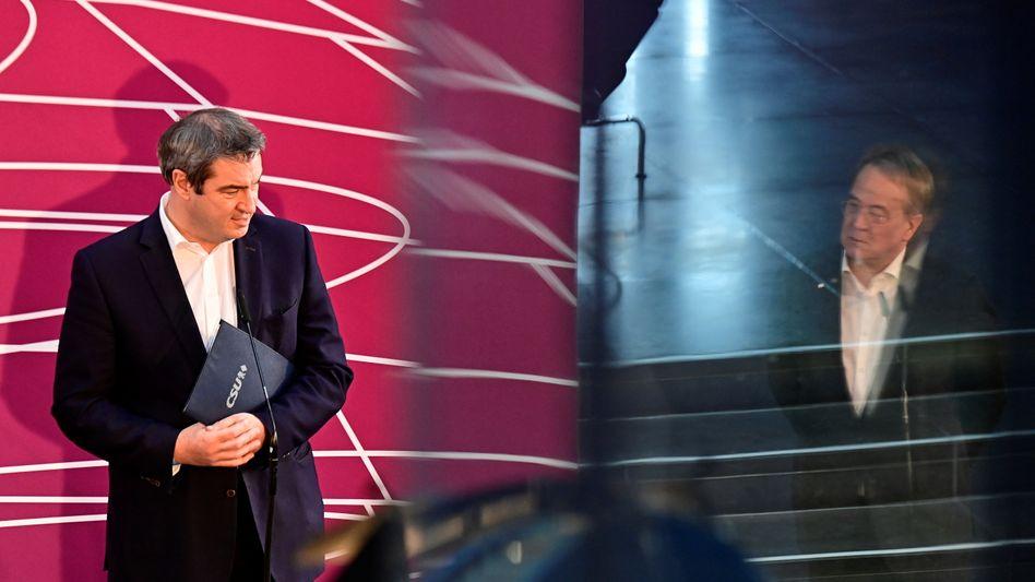 Kanzlerkandidat Armin Laschet, CSU-Chef Markus Söder: »Es geht nicht darum, im Nachhinein Recht zu bekommen«