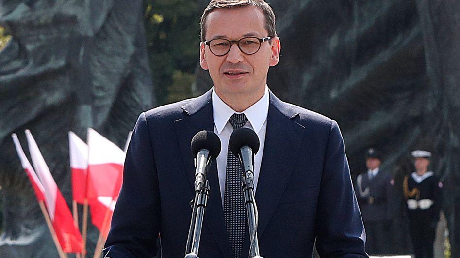 """Polens Ministerpräsident Morawiecki: """"Deutschland sollte seine Verteidigungsausgaben schneller erhöhen"""""""