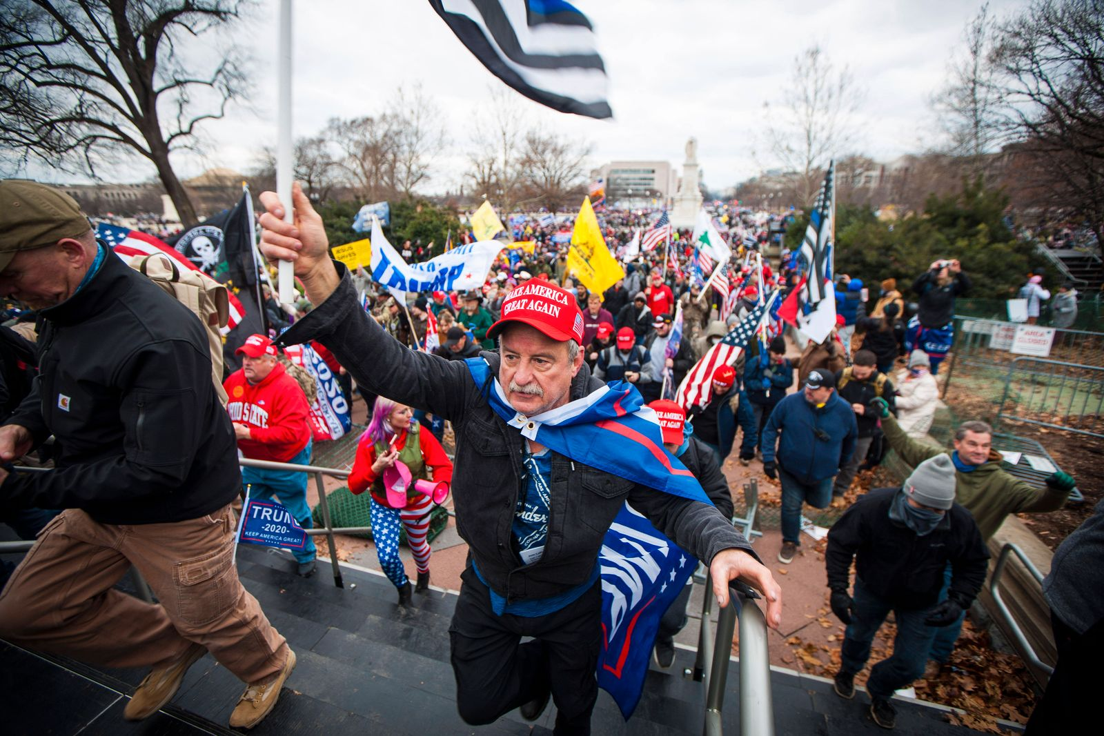 January 6, 2021, Washington Dc, USA: Trump supporters storm the grounds of the US Capitol Building on Wednesday Jan. 6,