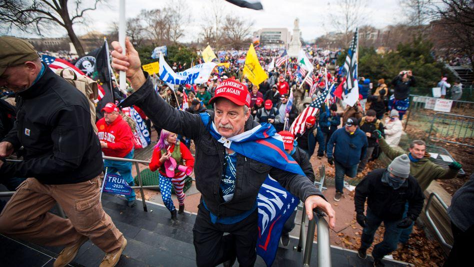 Trump-Anhänger stürmten am 6. Januar das US-Kapitol