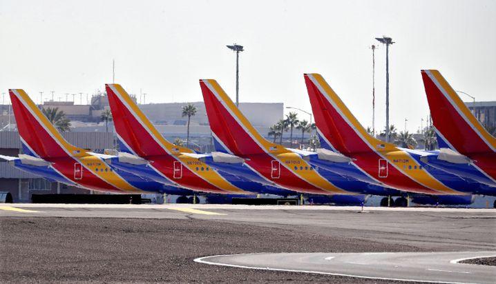 Maschinen des Boeing-Modells 737 Max in Phoenix