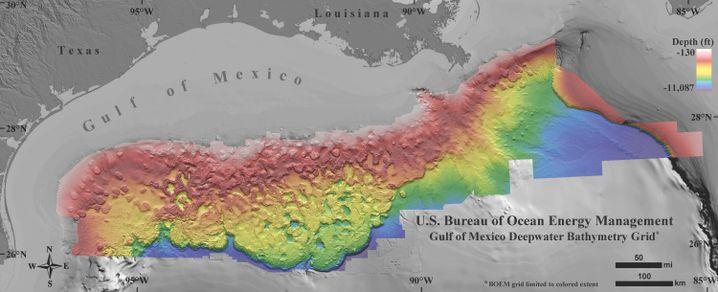 Neue Karte des Golfs von Mexiko