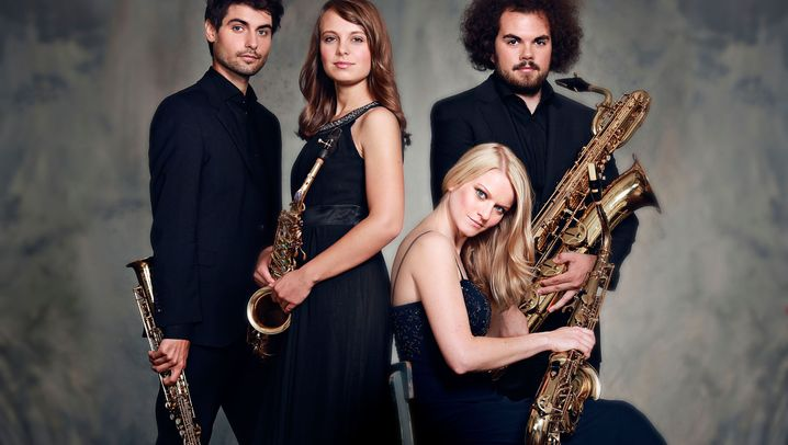 Saxophon-Quartette: Arcis und Berlage blasen Bach und Blues