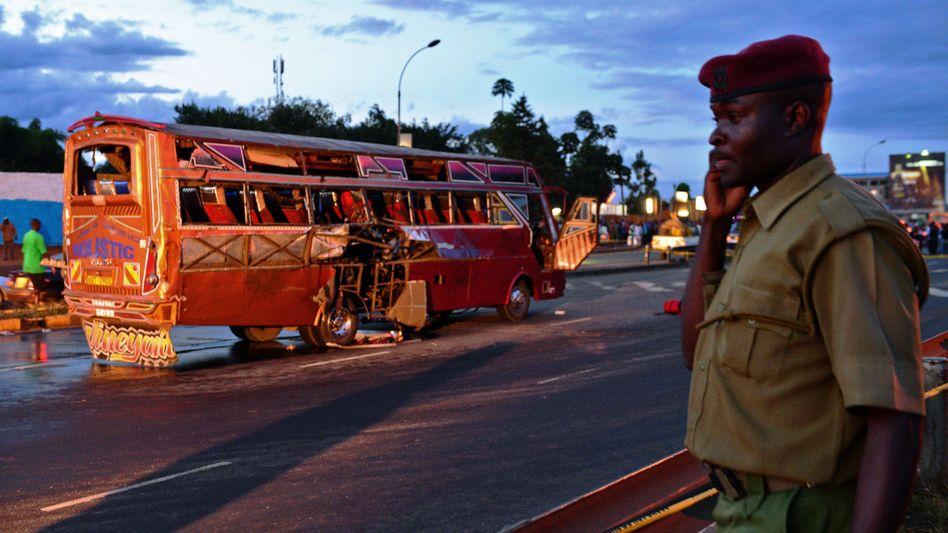 Anschlag auf einen Bus in Nairobi Anfang Mai: Touristen werden ausgeflogen