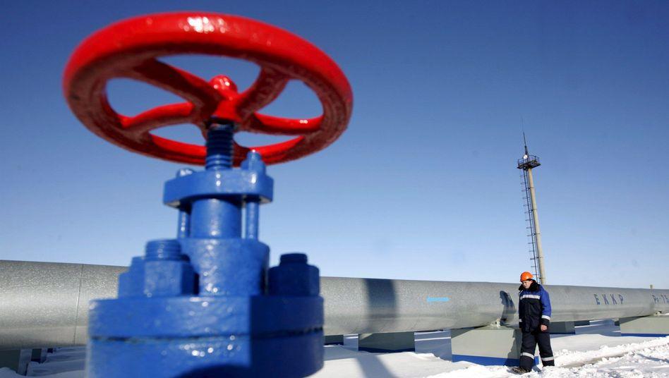 Gasstation an der russisch-ukrainischen Grenze: Es geht wieder ums Geld