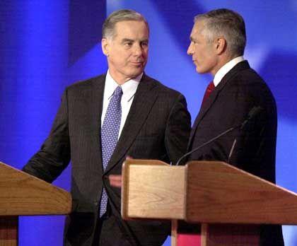 Konkurrenten Dean und Clark: Anerkennung bei demokratischen Parteigängern
