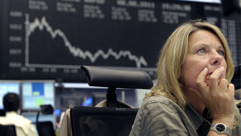 Die Deutsche Börse in Frankfurt: Dax sank auf tiefsten Stand seit September 2010