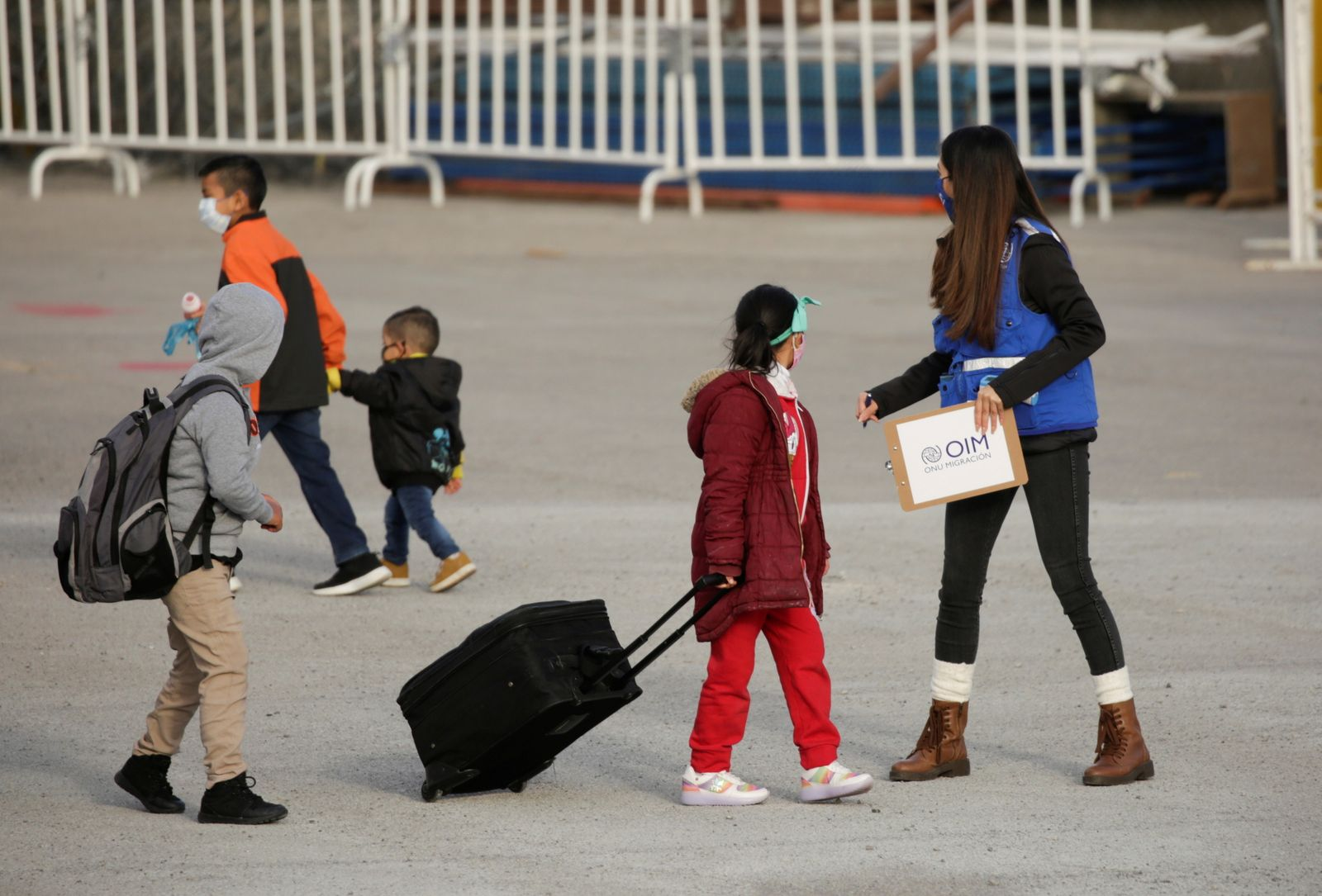 Migrants from Central America before being transferred to continue their asylum request in the United States